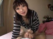 Hot sweet Japanese blowjob with lots of handwork