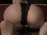 Skinny chick Yukina shows off her tight bubble ass