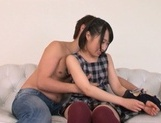 Vanilla babe Tsugumi Uno gets nailed extremely hard gets cum in mouth picture 13