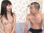 Skinny Asian model Minami Hirahara gets shaved pussy plowed