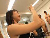 Haruka Mitsuki Asian doll gives massive blowjob
