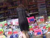 Japanese nice teen babe shows off transparent lingerie