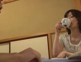 Cum-thirsty Japanese milf Nao Mizuki deepthroats rod on pov video