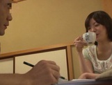 Cum-thirsty Japanese milf Nao Mizuki deepthroats rod on pov video picture 11