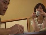 Cum-thirsty Japanese milf Nao Mizuki deepthroats rod on pov video picture 12