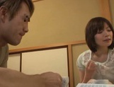Cum-thirsty Japanese milf Nao Mizuki deepthroats rod on pov video picture 15