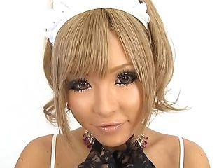 Erotic Japanese AV model from Tokyo rubs her awesome pussy