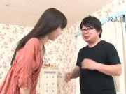 Slim Minami Hirahara pleases horny male in hardcore