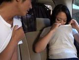 Japanese MILF cums from a vibrator and gives head in a car picture 12