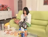 Sweet Japanese teen girl Tsugumi Uno cannot stop riding cock