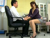 Aoi Miyama blowing her boos while at work picture 15