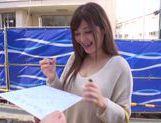 Frisky Japanese AV model is a milf deepthroating hot guy picture 11
