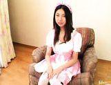 Yuri Sato Lovely Japanese maid has tight shaved pussy