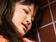 Seira Takahashi Lovely Asian model has a shaved pussy