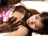 Junna Kawai Asian model has hairless pussy