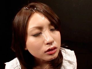 Saki Yano Gets On Her Knees And Sucks For A Facial