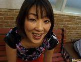 Miyuki Asian babe gives a hot blowjob picture 15