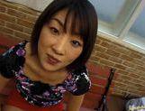 Miyuki Asian babe gives a hot blowjob