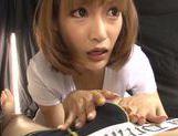 Horny schoolgirl Kirara Asuka pleases male with oral