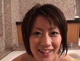 Sexy Yuki Hibino pleases cock in the bathtub