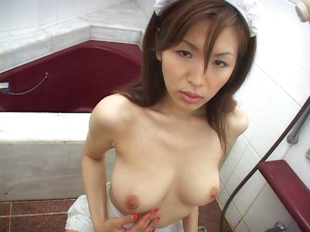 Kinky Maid Mai Hanano makes her boss cum after giving blowjob.