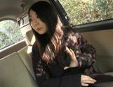 Busty Japanese babe likes to starts from the road picture 13