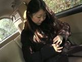Busty Japanese babe likes to starts from the road picture 14