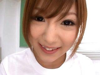 Miku Airi Asian doll gives a sweet blowjob