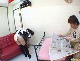 Horny maid Yuki Hoshino gets pounded hard