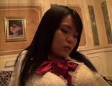 Lovely Sayaka Aishiro shaved pussy in school uniform picture 11