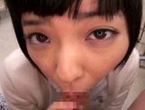 Petite amateur babe Mashiro Ayase deepthroats cock on pov video picture 25