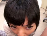 Petite amateur babe Mashiro Ayase deepthroats cock on pov video picture 35