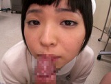 Petite amateur babe Mashiro Ayase deepthroats cock on pov video picture 38
