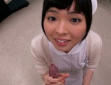 Petite amateur babe Mashiro Ayase deepthroats cock on pov video picture 6