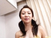 Hot milf Masaki China in sexy lingerie gives hot blowjob