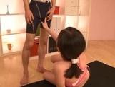 Nice Japanese teen in sexy sportswear Aimi Yoshikawa gives a throat job picture 12