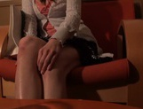 Cute babe blows and swallows like a true master