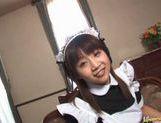 Japanese milf Ami Kitajima sucks on a fat juicy cock