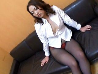 Hot milf wild insertion in black stockings