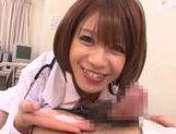 Japanese AV Model is a wild nurse sucking cock picture 17