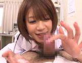 Japanese AV Model is a wild nurse sucking cock picture 18