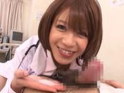 Japanese AV Model is a wild nurse sucking cock
