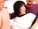 Kinky shaved pussy girl Kasumi Uehara group sex