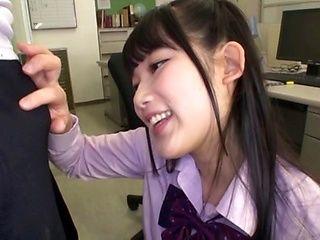 Teen sex bomb Miyazaki Aya gives a cock ride to her teacher