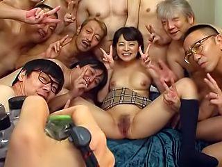 Japanese Teen Gangbang