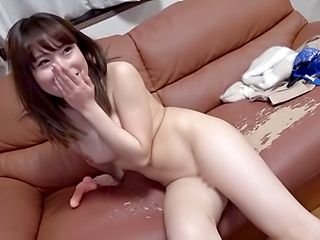 Young amateur enjoys dildo and a lot of oral