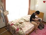 Kinky lad enjoying a handjob from horny Kitano Nozomi