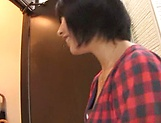 Kinky Asian milf Miku Abeno loves sucking hot wood