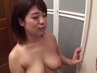 Cute Asian babe Maino Itsuki in hot titty fuck action