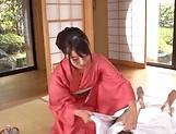 Busty Saki Hatsumi removes undies for a big cock